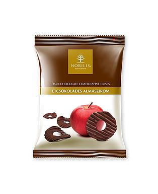 Dark chocolate coated Apple crisps - 50g