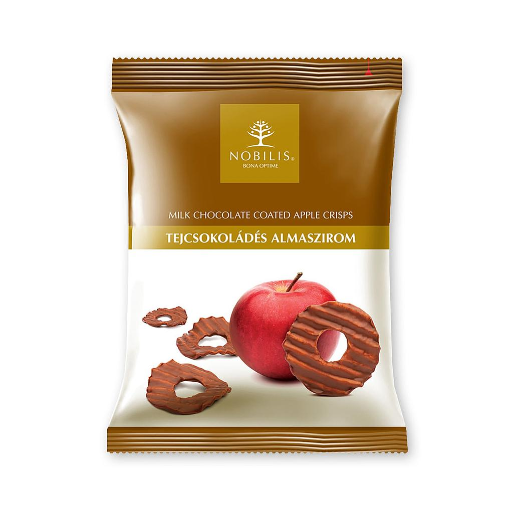 Milk chocolate coated Apple crisps - 50g